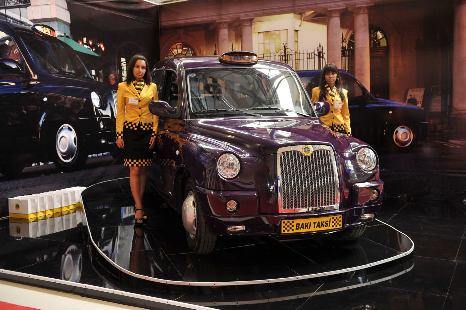 London Taxi Is Main Attraction At Azerbaijan Public